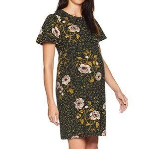Maternity Flutter Sleeve Swing floral Dress
